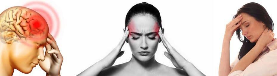 mujeres que tienen dolor de cabeza